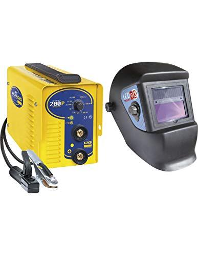 Poste à souder MMA Inverter GYSMI 200P + Masque LCD TECHNO 9/13-031579 - GYS