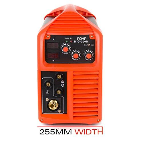 Röhr MIG-200MI - Poste à souder 3 en 1 - MIG/MMA Onduleur - avec/sans gaz - technologie IGBT - 240 V - 200A DC