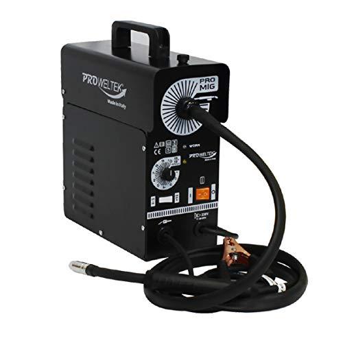 Poste à Souder MIG NO GAZ PROMIG100 A Inclus: Torche, Cable de Masse, Masque et Bobine de Fil Fourré
