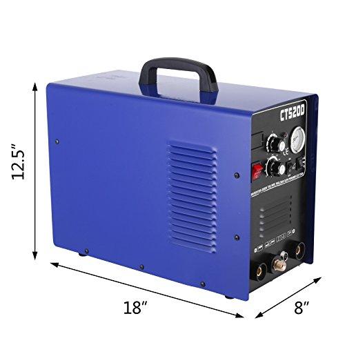 Chrisun 3 en 1 Plasma Cutting Inventer Machine de Soudage De Découpe Professionnel Inventeur 220V 200A Machine De Soudage à Fil Continu Commerciale Modèle CT520D (CT520D)