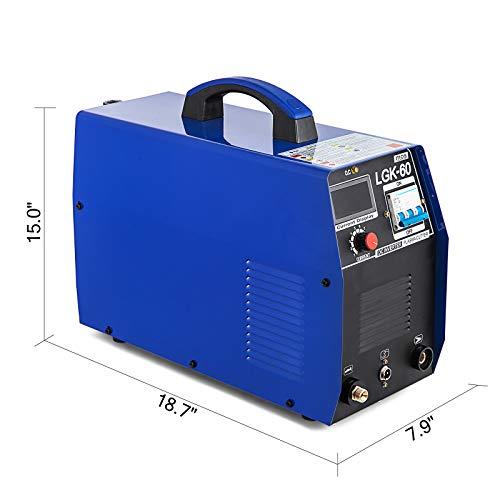 Chrisun Plasma Cutter 60AMP Découpeur Plasma Courant De 20-60A Coupeur de plasma Réglable En Continu Avec écran LCD Coupeur De Plasma Inverseur(60Amp)