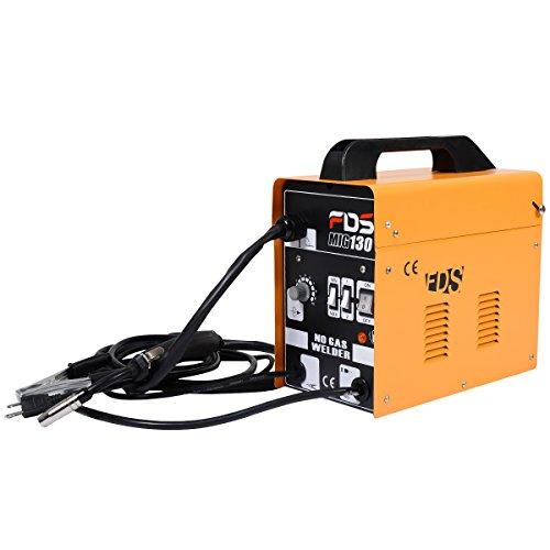 Poste à souder inerte gaz inerte MIG 130 électrode de soudage fil fourré (Orange)