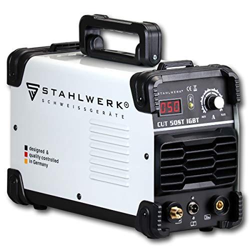 STAHLWERK CUT 50 ST Coupeur de plasma IGBT avec 50 Ampères, performance de coupe jusqu'à 14mm, convient pour tôle peinte, garantie du fabricant de 7 ans