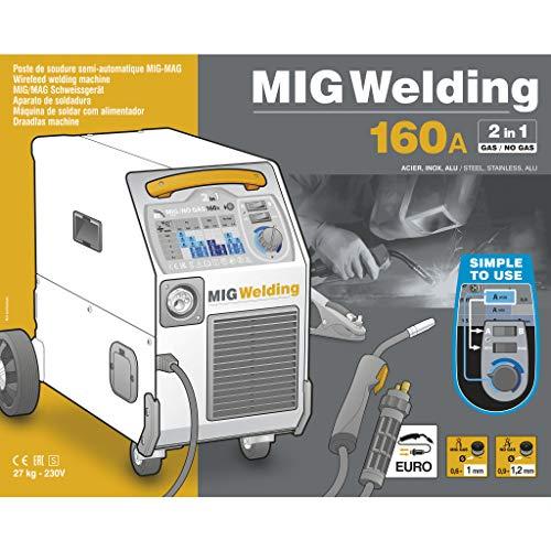 GYS Smartmig 162 Poste à souder sous gaz de protection 160A 230V monophasé Jaune