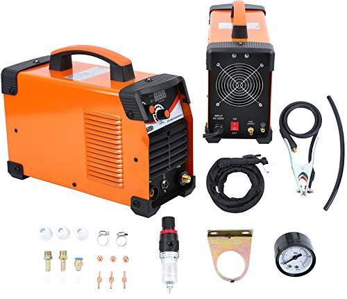 Muguang Poste à Souder 220V Plasma Cutter Machine Onduleur Numérique 10-50A avec Accessoires Coupe 1-12mm (Sans prise)