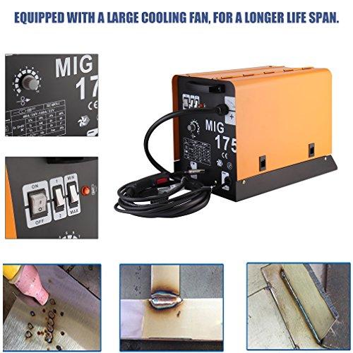 sweepid Poste de soudure à fil fourré MIG de 175Ventilateur Refroidisseur de 220V 60–160A haut de gamme Poste à souder sous gaz de protection portable à la transpiration